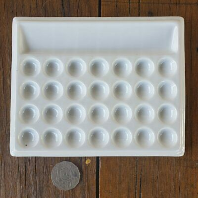 28 Well Rectangular Ceramic Porcelain Watercolour Palette Paint Mixing Tray