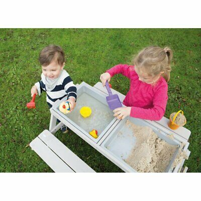 Sand Pit And Water Box Table Wooden Outdoor Garden Activities For Kids