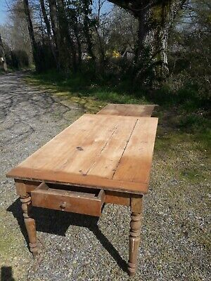 19th Century Antique French Rustic Country Farmhouse Kitchen Dining Table