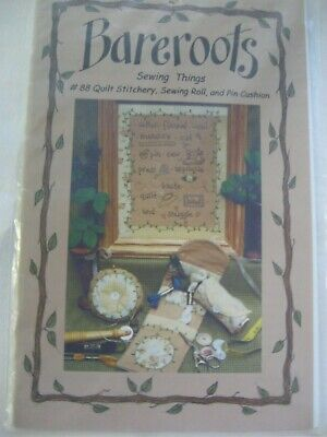 Bareroots Sewing  Roll Accessory Quilt Stitchery Embroidery Pattern Pin Cushion