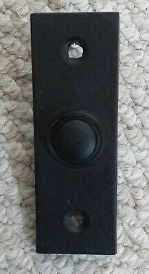 Reproduction Black Antique Door Chime Bell Push Button