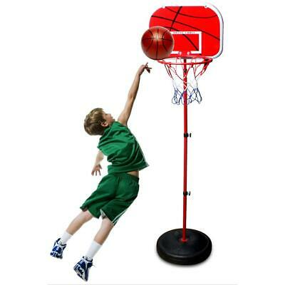 2m Kids Portable Basketball Hoop Stand System w/Adjustable Height Net Ring Ball