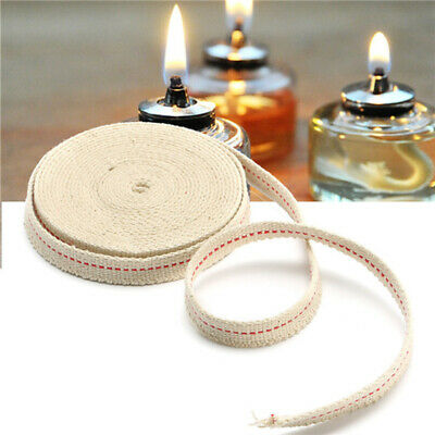 4.5M 15Feet White Flat Cotton Alcohol Wick Oil Lamp Wick Burner Lab Accessories