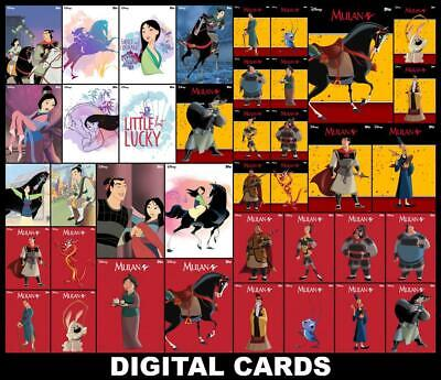 Topps Disney Collect MULAN CLASSIC COLLECTION [39 CARD FULL SET] Motion/Courage+