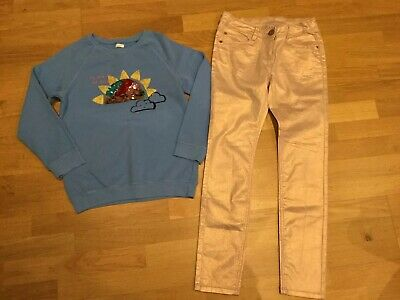 Girls Next Outfit Blue Rainbow Sequin Jumper Rose Gold Skinny Jeans Age 12 Years