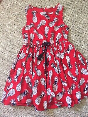 Next Girls Red Pineapple Fruit Sleeveless Summer Party Dress Age 6 Years