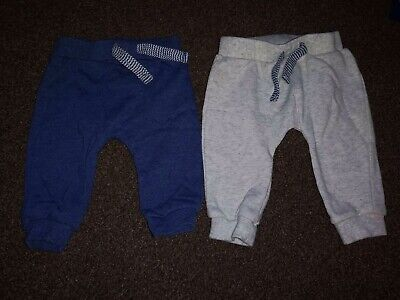 2 Pairs Of Baby Boys Jogging Bottoms - F+F - 3-6 Months Bundle
