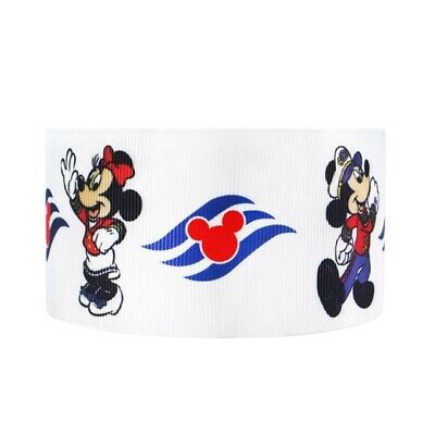 Grosgrain 2 Inch Minnie Mouse Mickey Ribbon For Hair Bows Diy Crafts