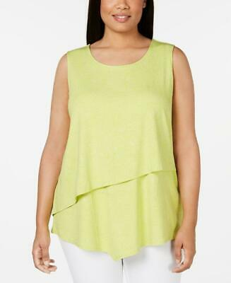 Alfani Women's Plus Circles Asymmetrical Overlay Top Size 2X NWT MSRP $65 A46