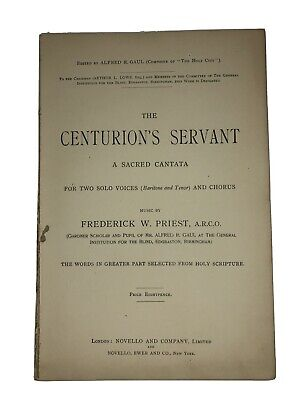 The Centurion's Servant Frederick Priest Novello The Holy City Vocal Sheet Music