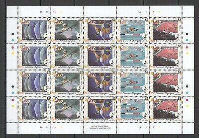 Ec231 2016 Cook Islands Sport Olympic Games Summer Olympics Rio Full Sh 4Set Mnh
