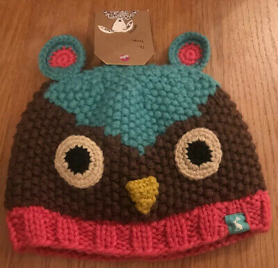 Joules BNWT baby girl small fits 0-6 month knitted hat