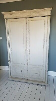 Original French Oak Armoire Wardrobe - Shabby Chic