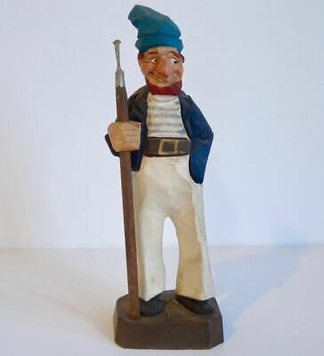 Vintage ~ Ely Hannah ~ Hand Carved / Painted Figurine ~ Whaler