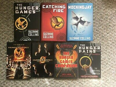 Complete Hunger Games Trilogy ~ Catching Fire Mocking Jay + 4 Companion Books