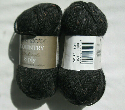 Knitting wool 100% pure wool 8 ply 2 x 50g skeins