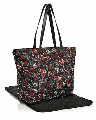 Rebecca Minkoff Women's Logan Floral Large Nylon Black Tote Baby Diaper Bag