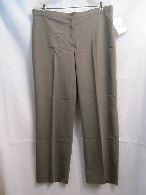 Jaclyn Smith Comfort Fit Brown Check Slacks Pants Relaxed Fit Size 16 NWT