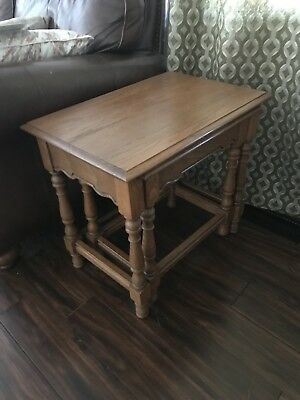 Tell City Chair Company Tanbark Oak Nesting Tables