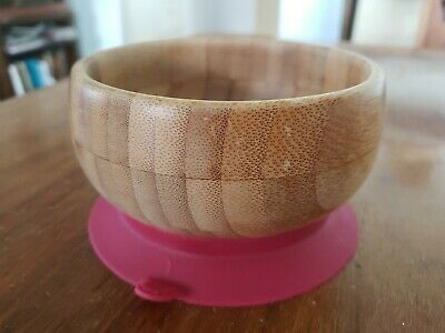 Magenta Avanchy Bamboo Suction Baby Bowl only - USED