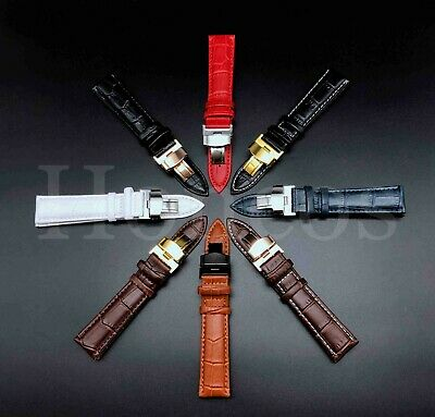 Alligator Leather Watch Band Strap Bracelet For Galaxy Watch 46 42mm S3 Frontier