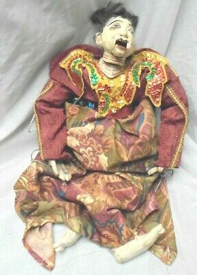 Vintage Hand Carved Painted Japanese Man Puppet Marionette