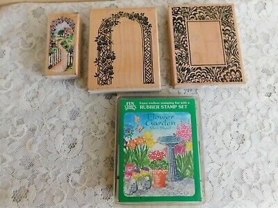 Rubber Stamps With Garden Theme