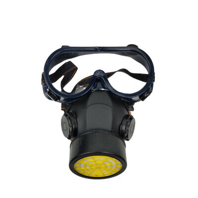 Hot Emergency Respirator Mask Chemical Gas Mask with Goggles Dual & 2 Protection
