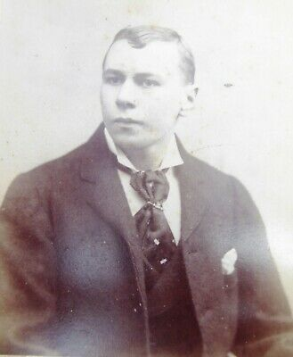 Large 1800s Victorian Cabinet Card Photograph by John Hart of London
