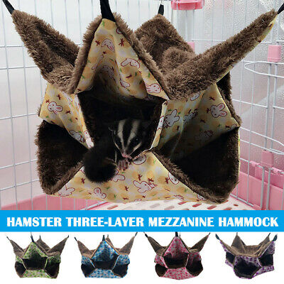3 Layer Hamster Hanging Hammock Bed Labyrinth Rabbit Warm Ferret Rat Bed Nest