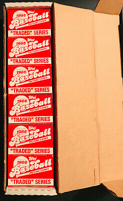 LOT 792x Total Topps Baseball Traded Series Sets (Factory Sealed) 1986, Rookies!