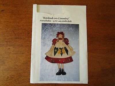 Hooked On Country  Annabella A 42Cm Cloth Doll Pattern.