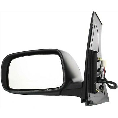 Mirror Compatible with 2004-2010 Toyota Sienna Power Manual Folding Heated Textured Black Passenger Side
