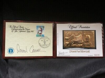 23 carat pure gold stamp 1987 Americas Cup winner