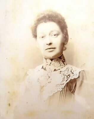 Large 1800s Victorian Cabinet Card Photograph by C A Jackson of Middleton
