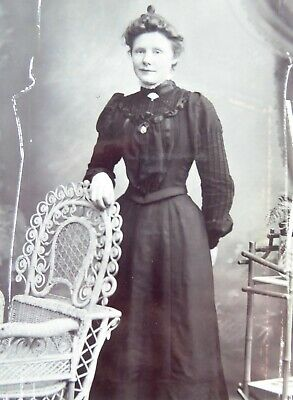 Large 1800s Victorian Cabinet Card Photograph by W Gammie of Turriff
