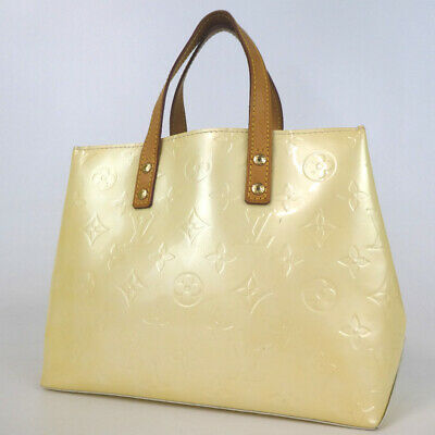 Authentic LOUIS VUITTON Vernis Reed PM TH0026 Handbag Patent leather/leather...