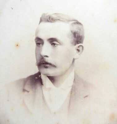 Large 1800s Victorian Cabinet Card Photograph by H Edwards of Brighton
