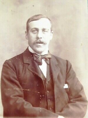 Large 1800s Victorian Cabinet Card Photograph of  a Victorian Gentleman