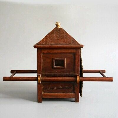 Collect China Old Boxwood Hand-Carved Ancient Noble Sedan Chair Decorate Statue