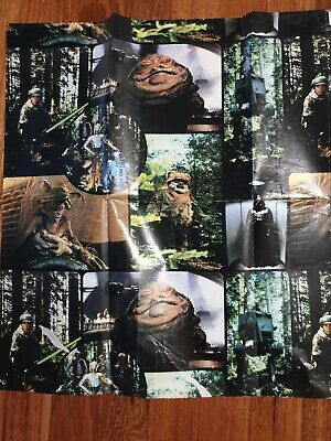 Vintage star wars Return Of The Jedi Wrapping Paper