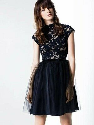 Cue Lace Silk Bodice Dress Size 6
