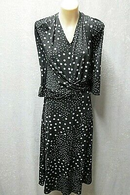 size 18 PREVIEW black white 3/4 sleeve WEAR-ANYWHERE DRESS