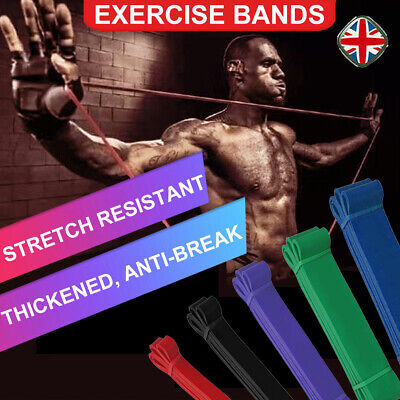 Resistance Bands Assisted Pull Up Bands Power Lifting Exercise Band Original UK