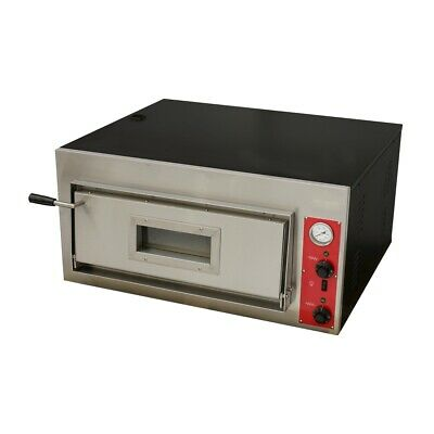 BakerMAX Germany's Black Panther Pizza Oven - Single Deck 4 x 30cm