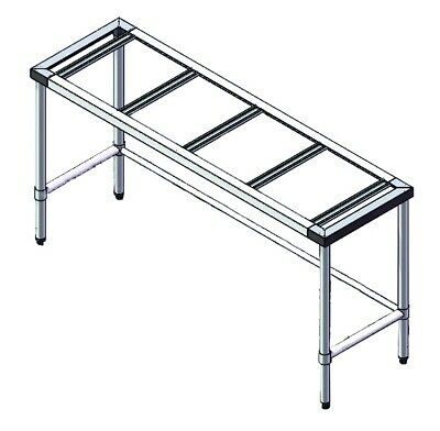 S/S Legs with U Shape 1800mm x 600mm - Modular Systems Stainless Steel