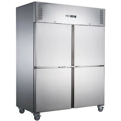 Thermaster FED-X S/S Four Door Upright Fridge Solid Door Fridges