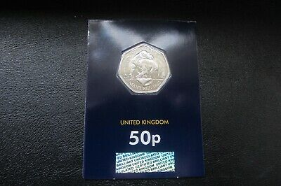 2020 1 x 50p IGUANODON DINOSAUR COIN - BUNC CARDED  2nd in series !!FREE P&P  M1