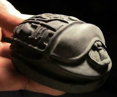 ANUBIS DEATH SCARAB Egyptian stone scarab statue ancient replica
