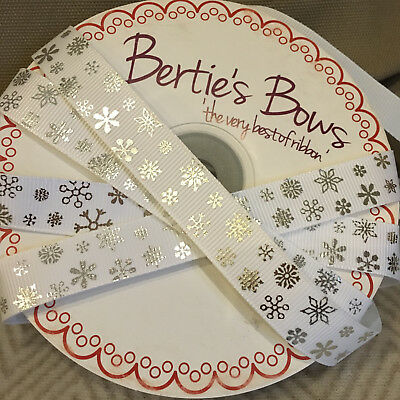 Berties Bows Lightly Quilted Gold Star 23mm Star BRAID RIBBON CARD TOPPER